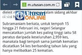 58% di Selangor saja - penawar demam denggi alternatif amat perlu
